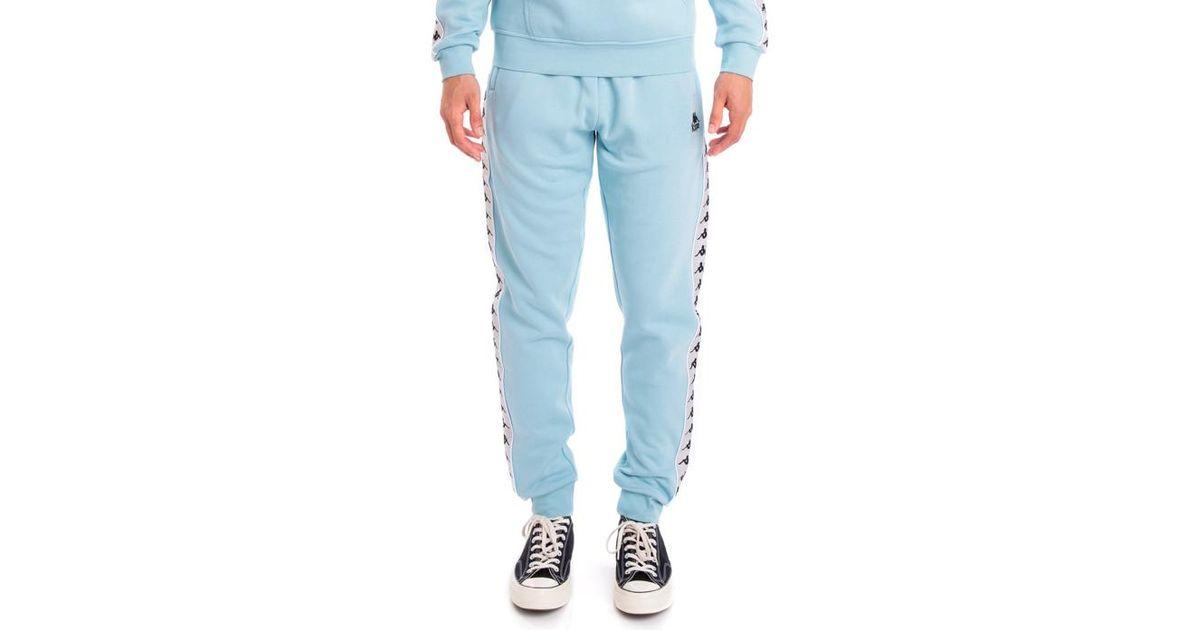 80346255 Kappa Gray 222 Banda Alanz Alternating Banda Sweatpants, Azure Grey Sliver  Black for men