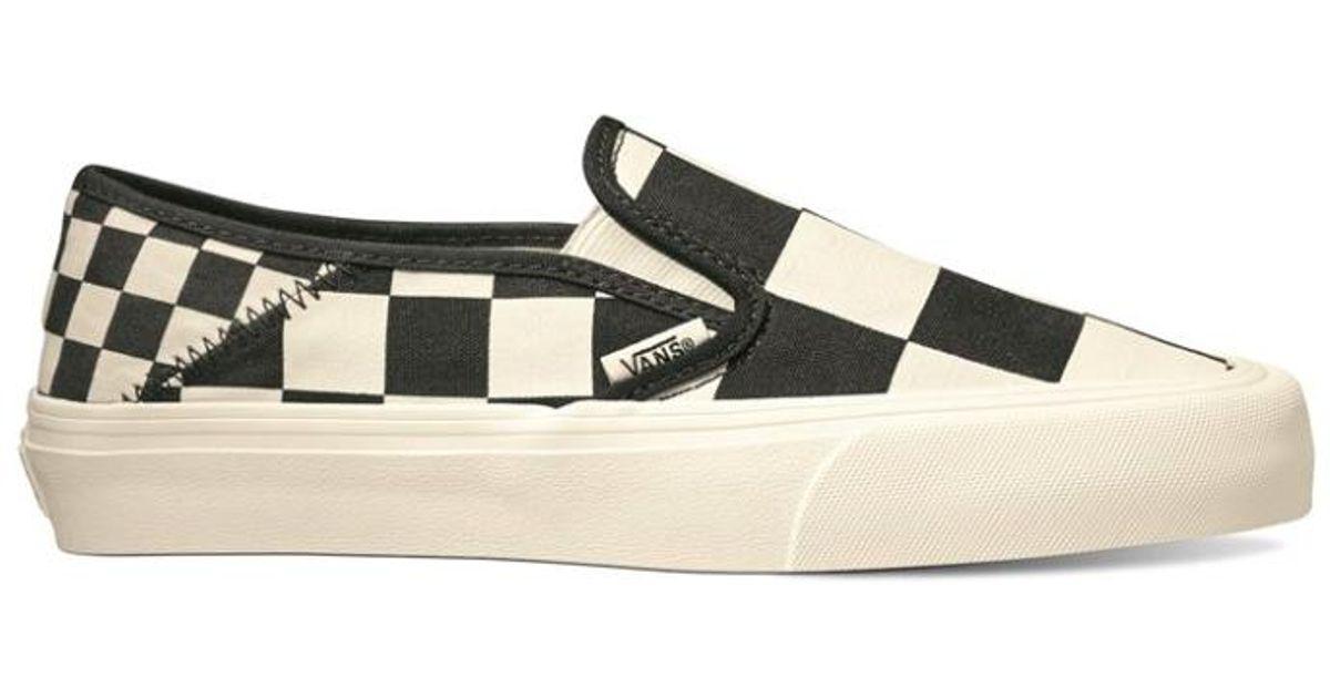 20f8433639 Lyst - Vans Women Mega Check Slip-on Sf Sneaker