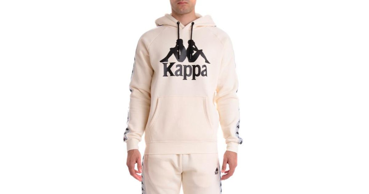1fa5f575 Kappa Natural 222 Banda Hurtado Pullover Hoodie, Beige Grey Sliver Black  for men