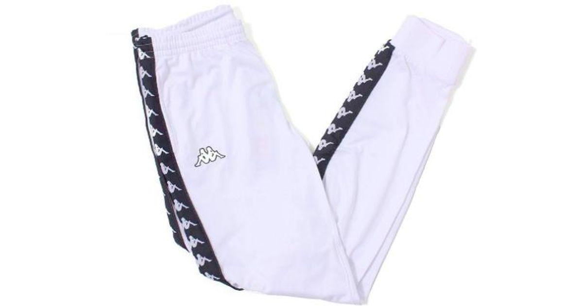 ed36dea8f5 Kappa Women 222 Banda Wrastoria Slim Track Pants, White/ Black