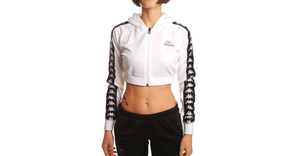 87311c325c00fa Lyst - Kappa Women 222 Banda Arakli Crop Hooded Jacket