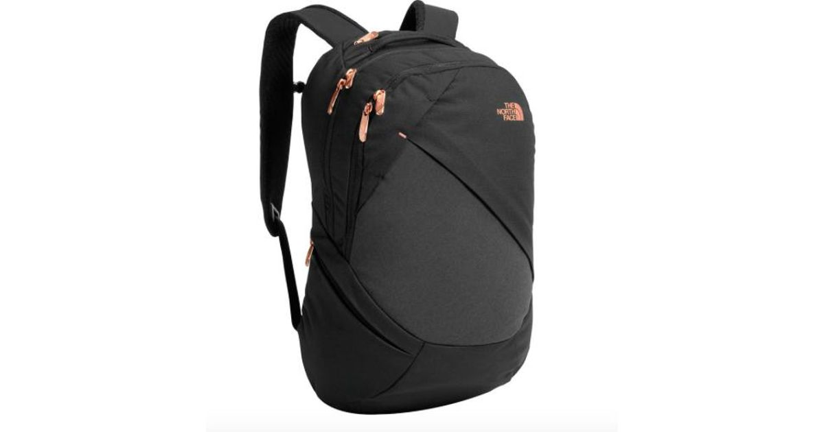 ccee43155 The North Face Women Isabella Backpack, Tnf Black Heather/ Burnt Coral  Metallic