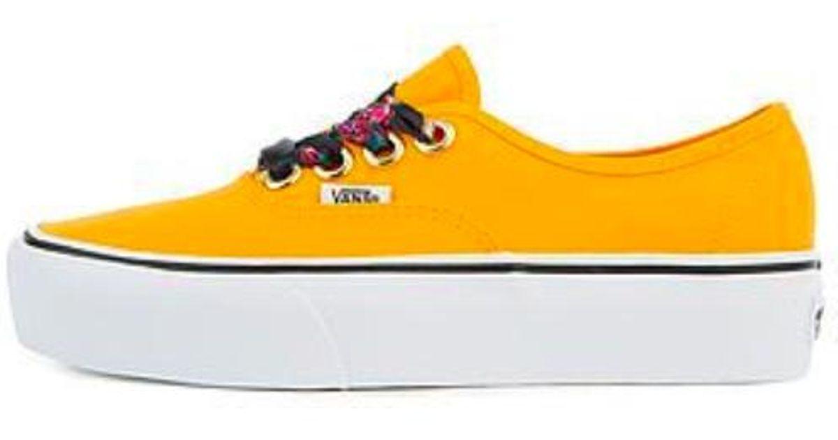 d5a3f0e2 Vans Yellow Women Oversized Lace Authentic Platform Shoes, Zinnia/true White