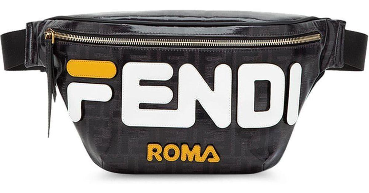 f2d2b3f6a07 Lyst - Fendi Retro Fila Font Logo Belt Bag By in Black for Men