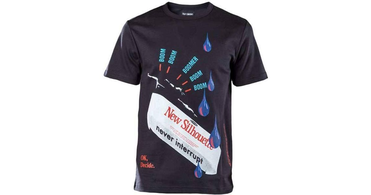 Raf Simons Blue New Silhouette T-shirt By for men