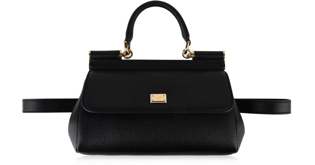 61c5b65e97 Lyst - Dolce   Gabbana Sicily Soft Belt Bag in Black