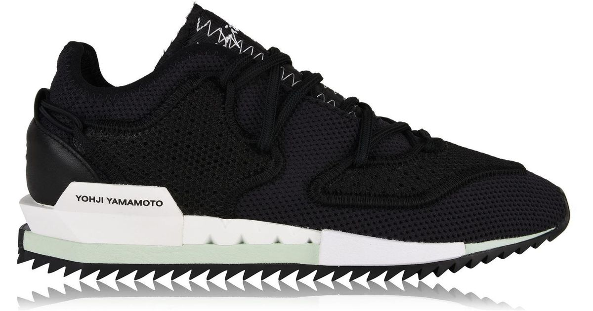 reputable site 6e110 42141 Lyst - Y-3 Harigane Knit Mesh Trainers in Black for Men