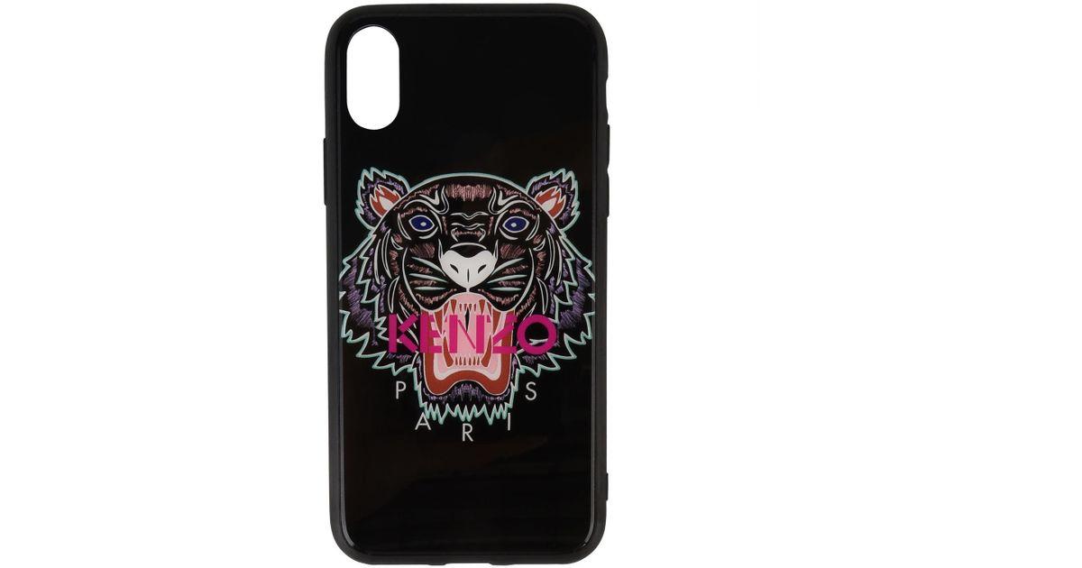 e5599256 KENZO Black Iphone X Acrylic Tiger Logo Case