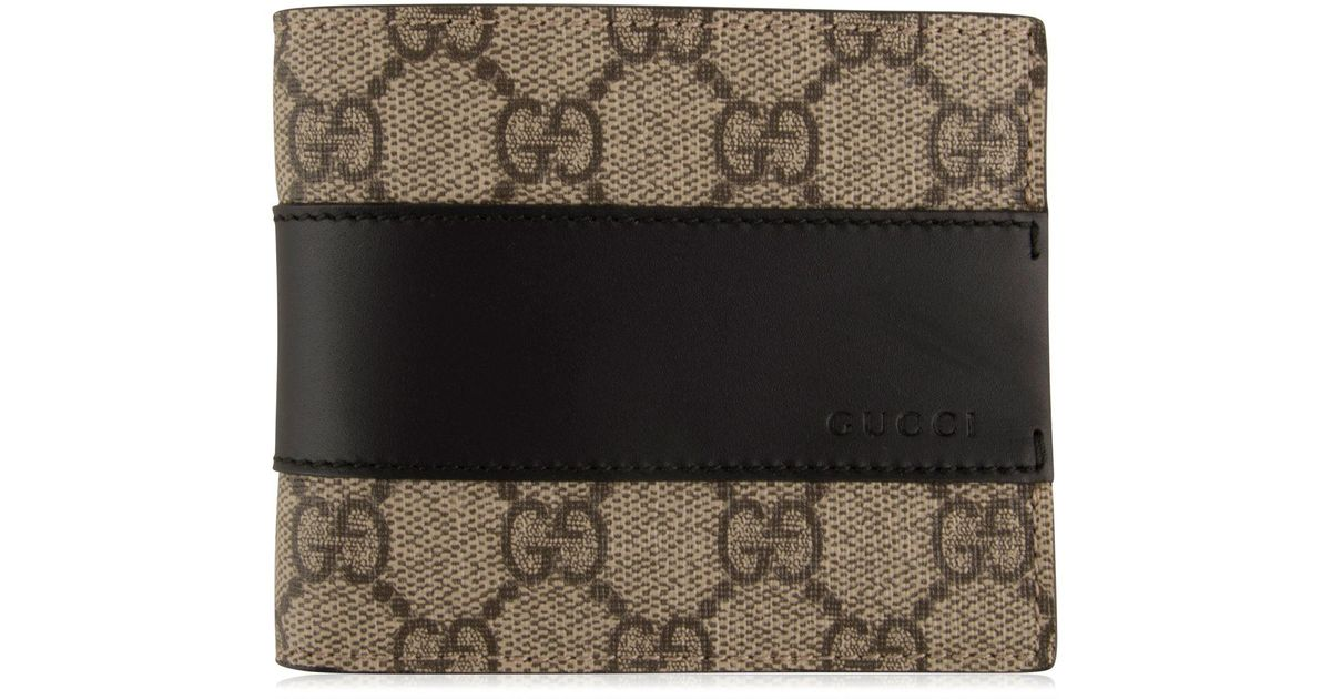 2821a73a817 Gucci GG Supreme Wallet Beige in Natural for Men - Lyst