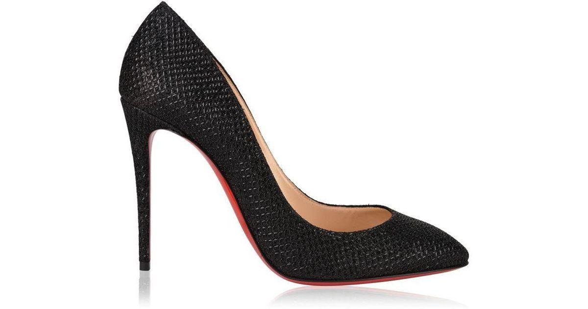 size 40 85238 04b0d Christian Louboutin Black Eloise Glitter Heels