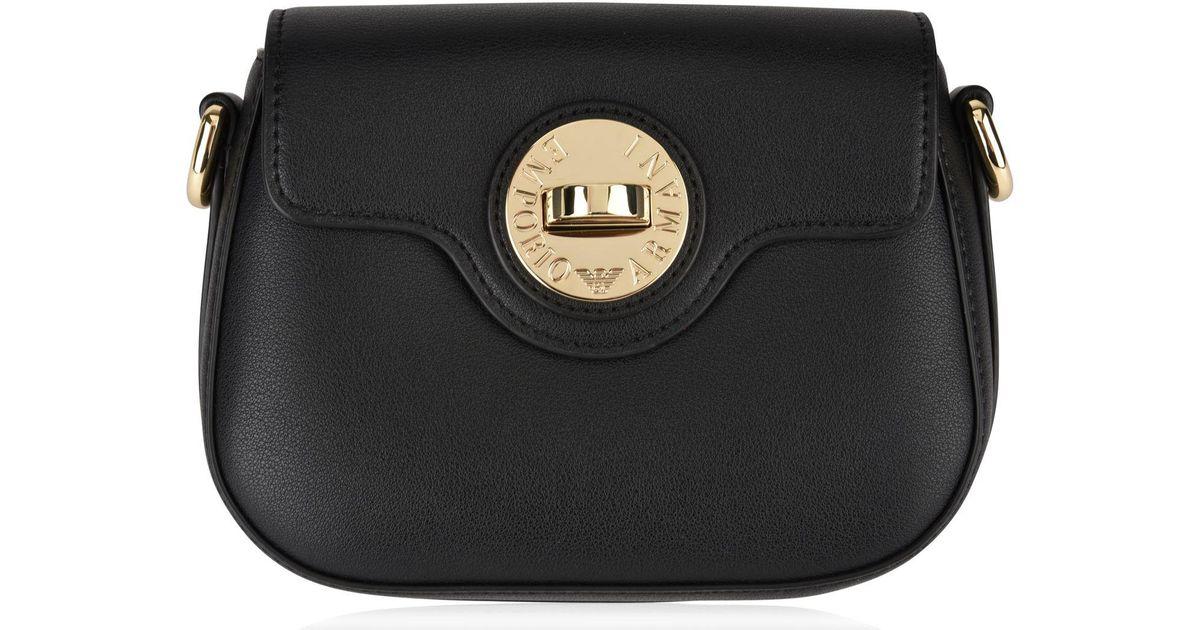 Lyst - Emporio Armani Sling Logo Bag in Black 2ca1d8f1b229a