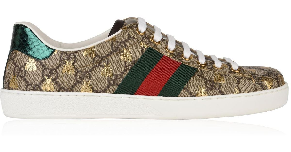34268251bae Gucci New Ace Bee Gg Trainers for Men - Lyst