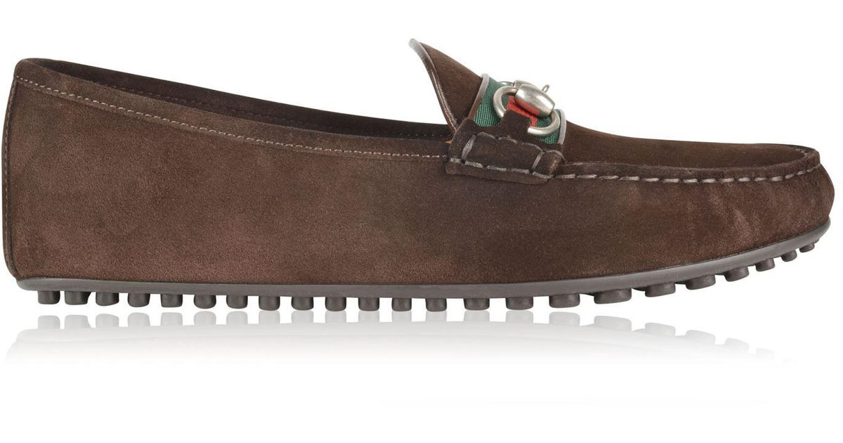a806ba4720f9 Lyst - Gucci Kanye Snaffle Driver Shoes in Brown for Men