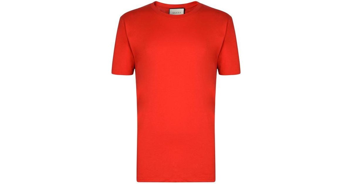 44c8cf514280 Gucci Back Fake Logo T Shirt in Red for Men - Lyst