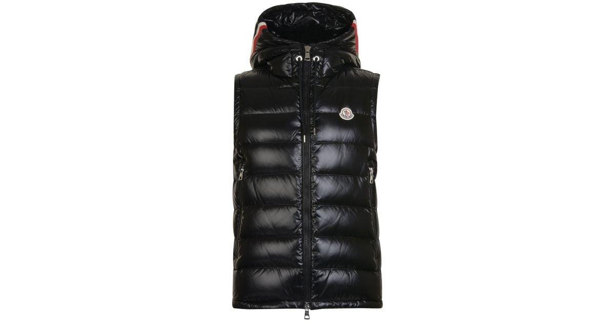 14056e22cec188 Lyst - Moncler Lanoux Hooded Gilet in Black for Men