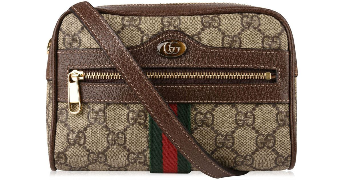 6155334f4113b8 Lyst - Gucci Ophidia Camera Bag in Natural