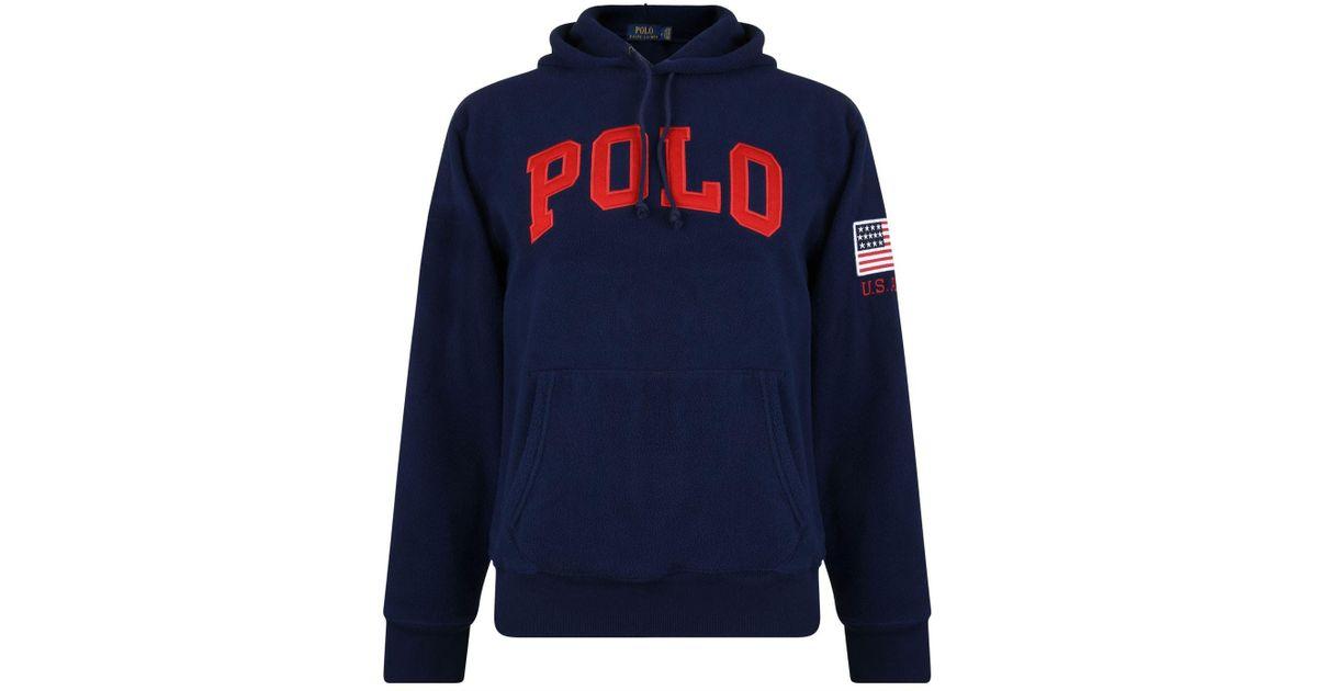 Polo Sweatshirt For Hooded Lauren Ralph Blue Terry Towel Men dxBCoQreW