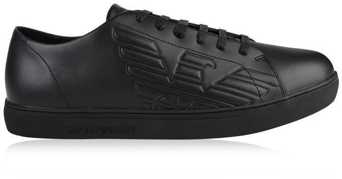 Emporio Armani Leather Stan Eagle