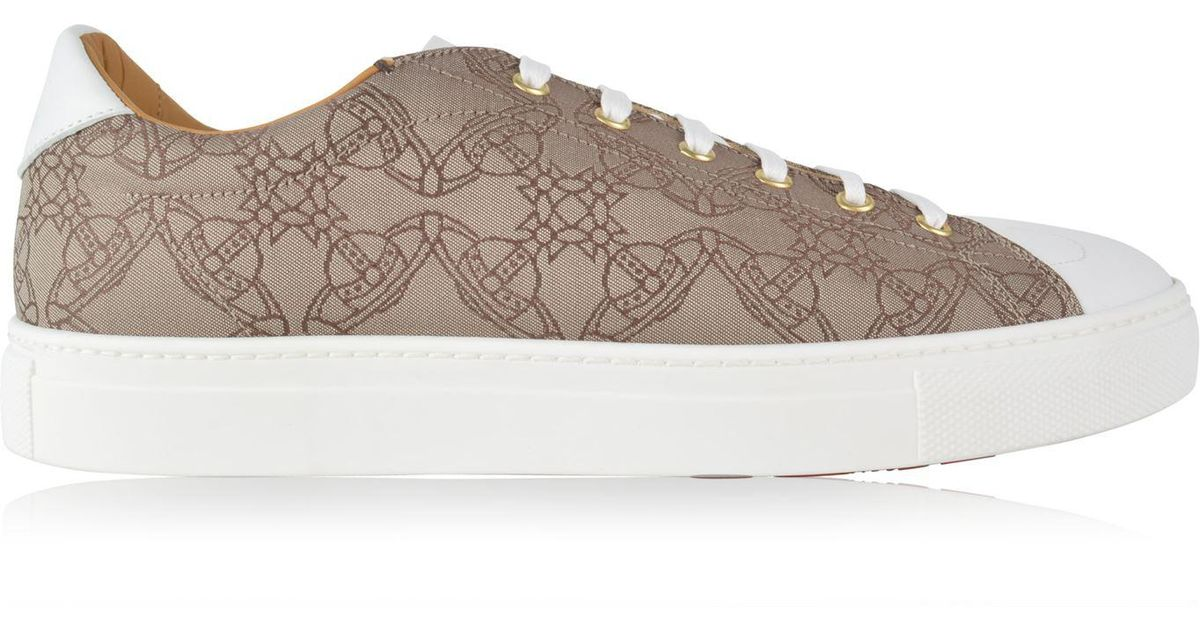 Leather Jacquard Derby Trainers