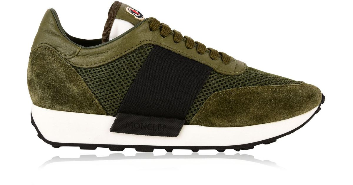 bc17b9f3d Moncler Green Louise Trainers