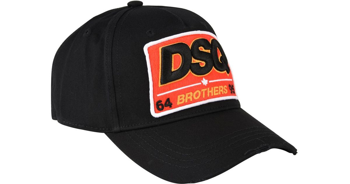Lyst - DSquared² Dsq2 Baseball Cap in Black for Men f185973c9fc