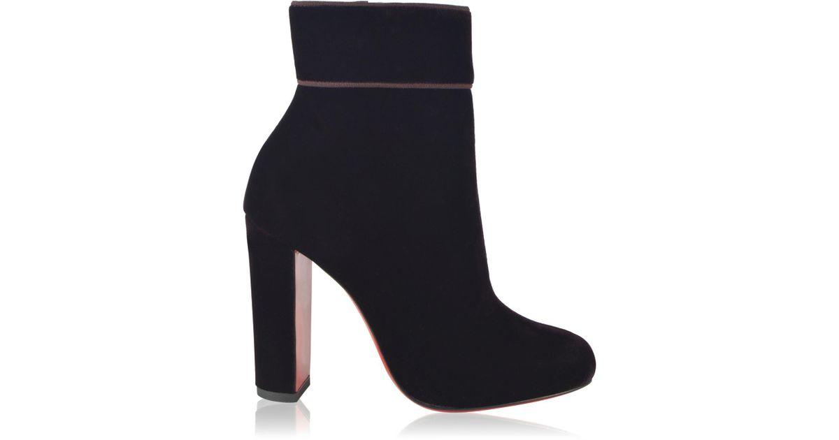 hot sales a95e9 8e61d Christian Louboutin Blue Moulamax Velvet Ankle Boots