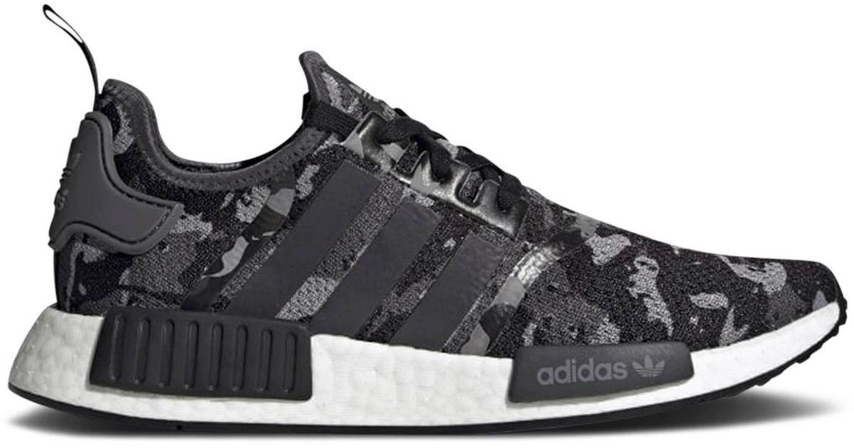 adidas Nmd R1 Camo Grey Black in Gray