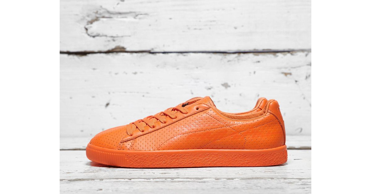21fac21886a9fa Lyst - PUMA X Trapstar Clyde Perforated in Red for Men