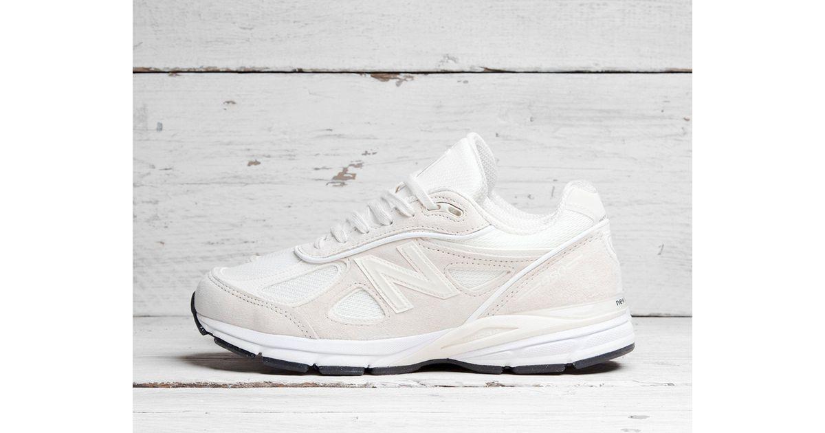 sports shoes 1a0fe cac9e New Balance White X Stussy 990v4