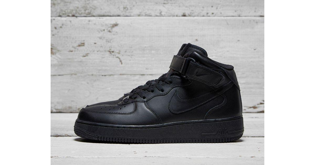Nike Black Air Force 1 Mid for men