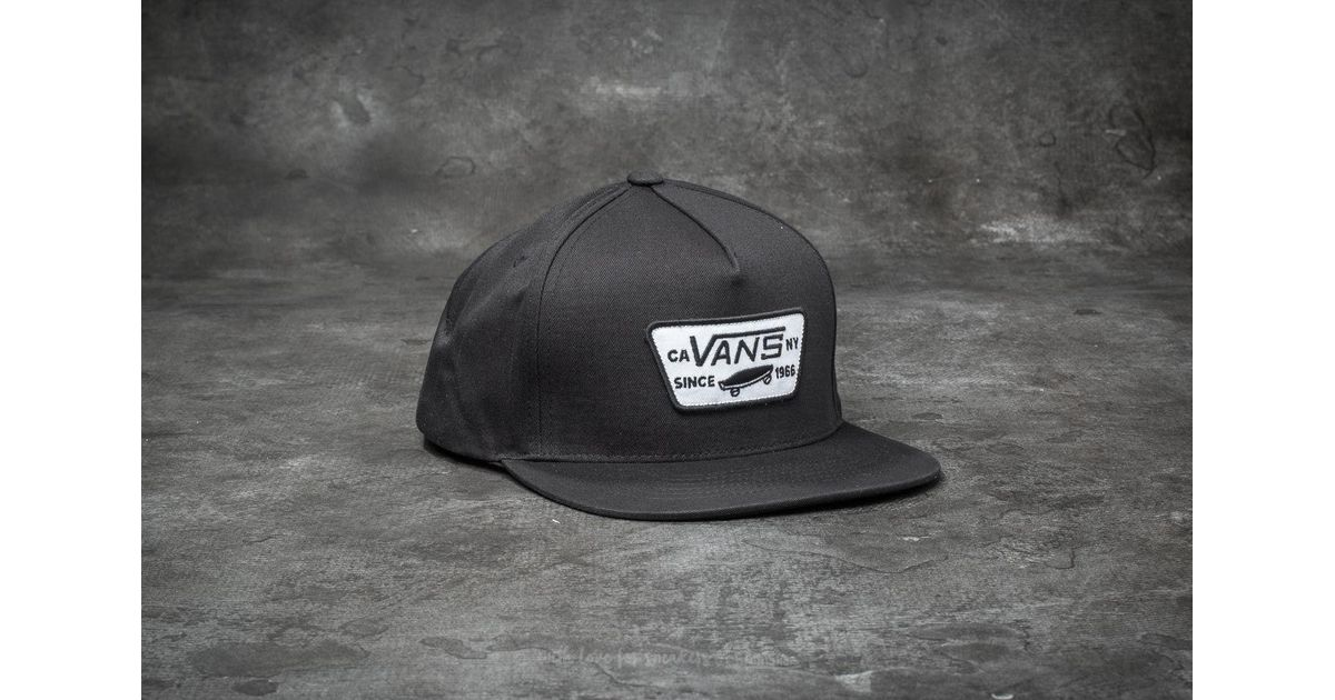 d4eadba9036 Lyst - Vans Full Patch Snapback True Black in Black for Men