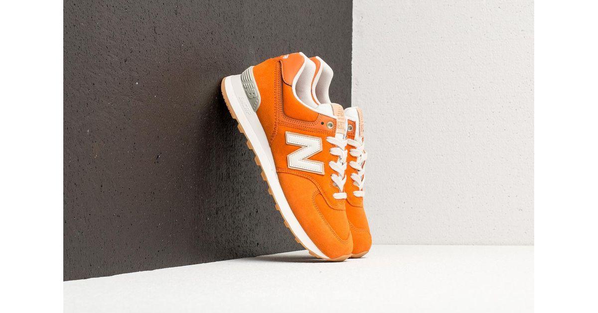 New Balance 574 Burnt Orange Moonbeam for men