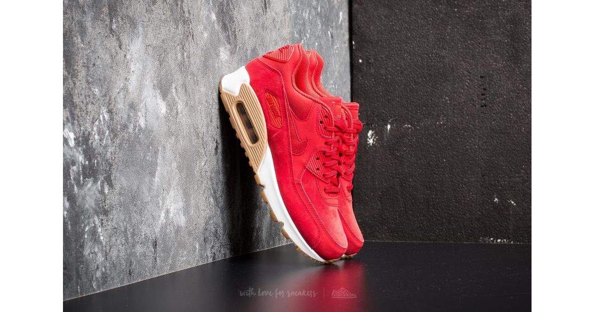 Nike Suede Wmns Air Max 90 Se Gym Red Gym Red white Lyst
