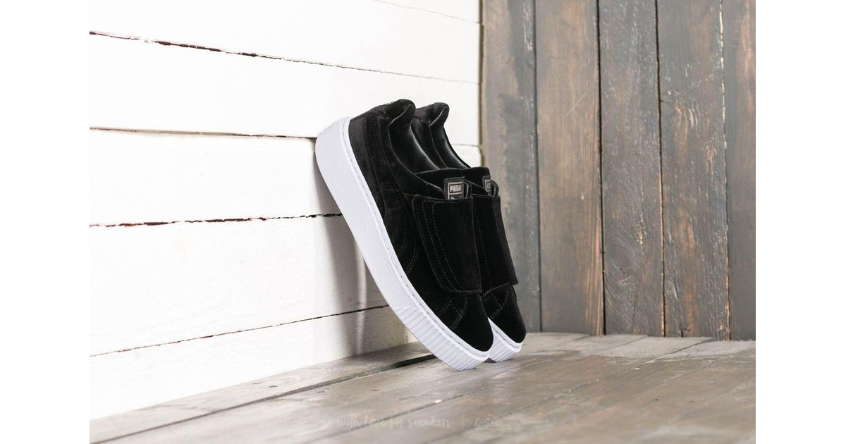 puma basket platform strap