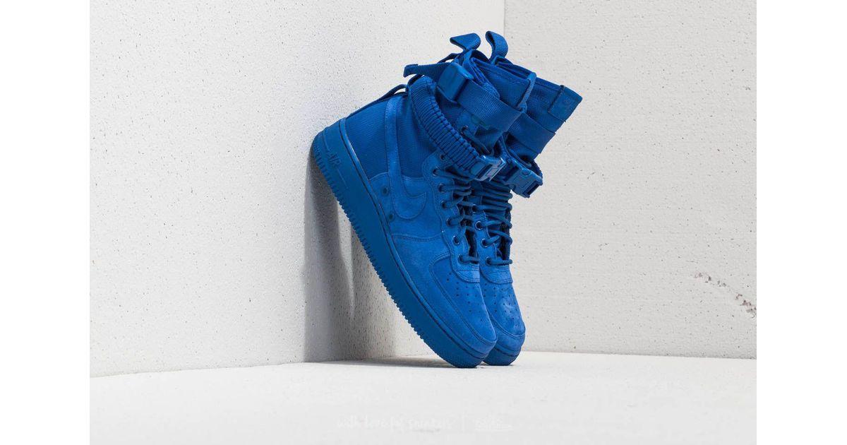 Nike Suede Sf Air Force 1 Game Royal