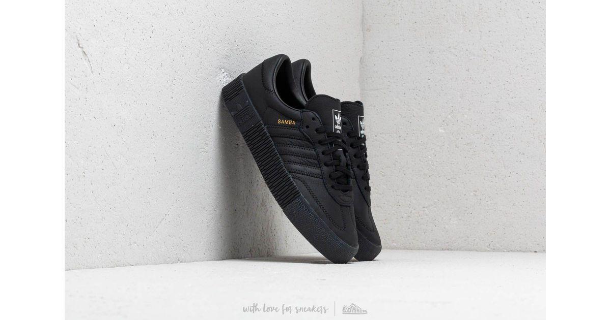 adidas black sambarose