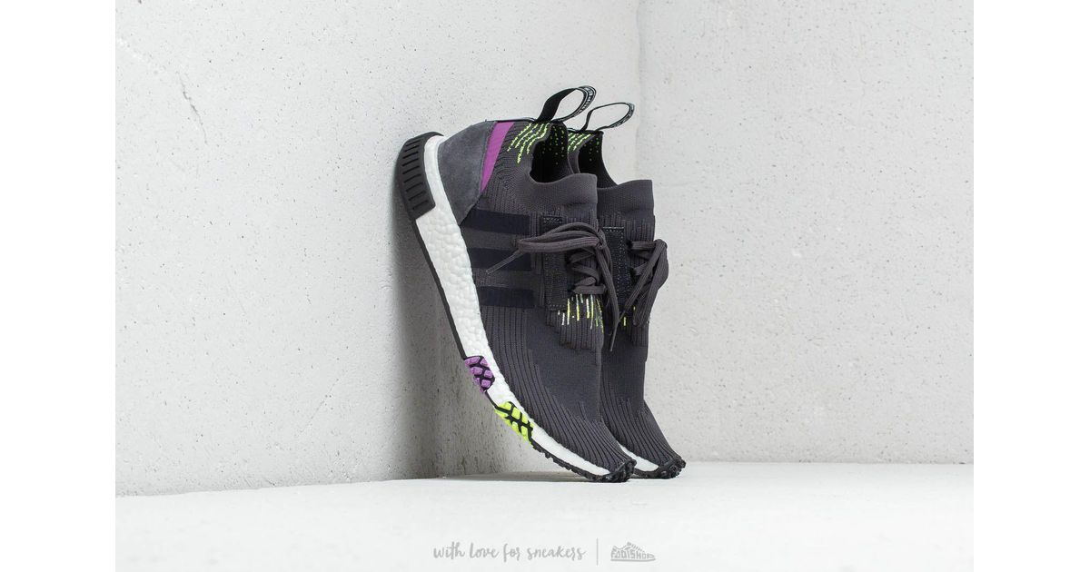 c115941e6 Lyst - adidas Originals Adidas Nmd Racer Primeknit Carbon  Core Black   Solar Yellow in Black for Men