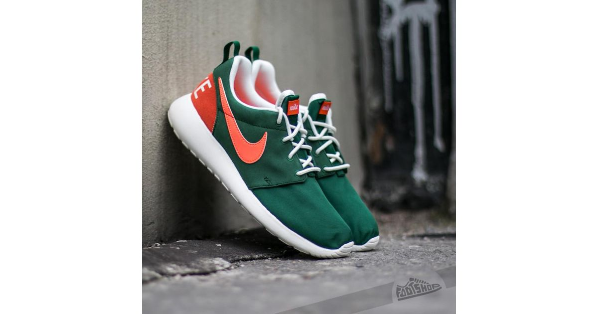 c72aa5de0498 Lyst - Nike Wmns Roshe One Retro Gorge Green  Bright Mango in Green