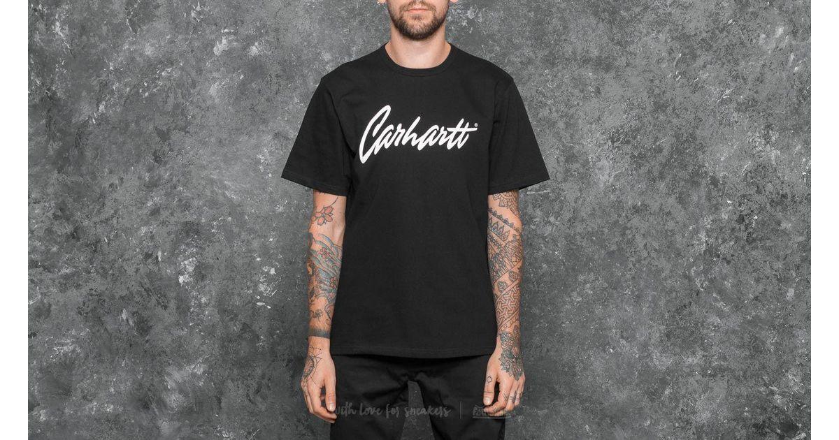875379f135d6 Lyst - Carhartt Wip Shortsleeve Stray T-shirt Black/ Wax in Black for Men