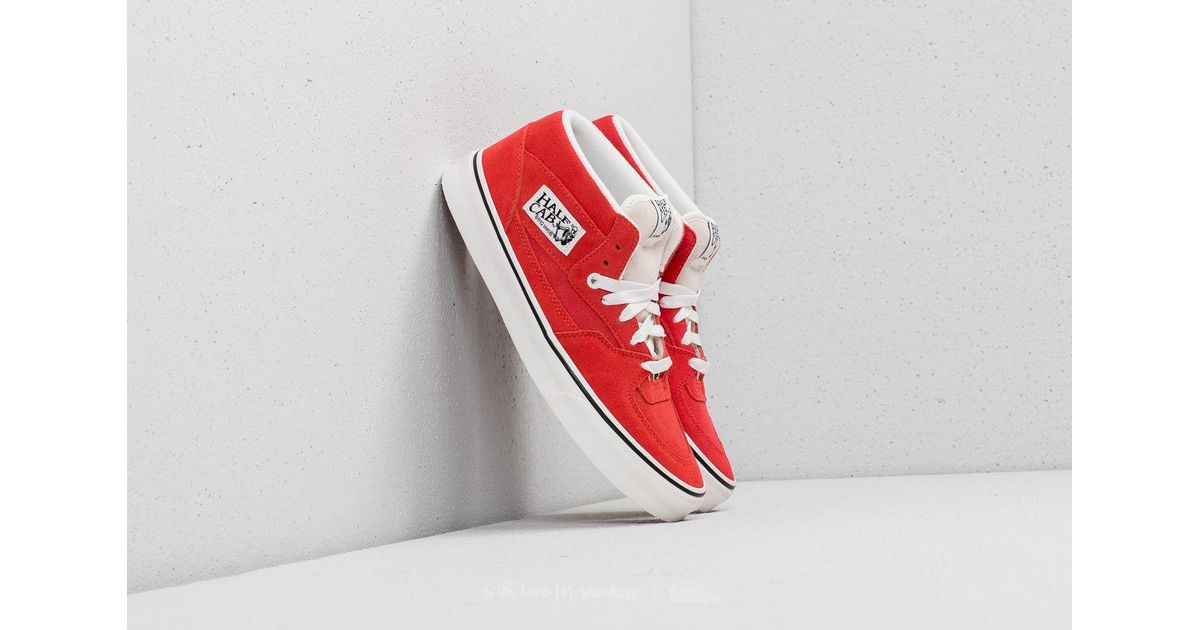 19b98a76627 ... Lyst - Vans Half Cab (suede) Hibiscus True White in Red for timeless  design ...