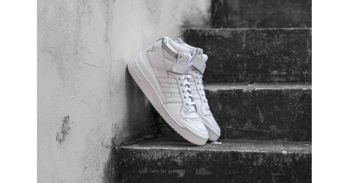 great fit bf519 37bd8 ... canada lyst adidas originals adidas forum mid refined footwear white  footwear white silver matte for men