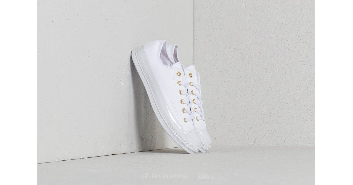 fdd32cd6616f Lyst - Converse Chuck Taylor All Star 70 Ox White  White  Cherry Blossom in  White for Men