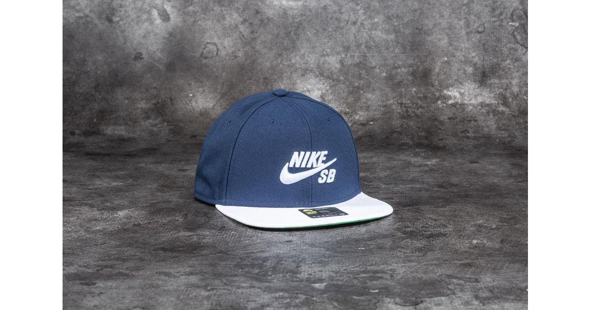 45fa3b9d19e0f Lyst - Nike Sb Pro Cap Obsidian  White  Pine Green  Hydrogen Blue in Blue  for Men