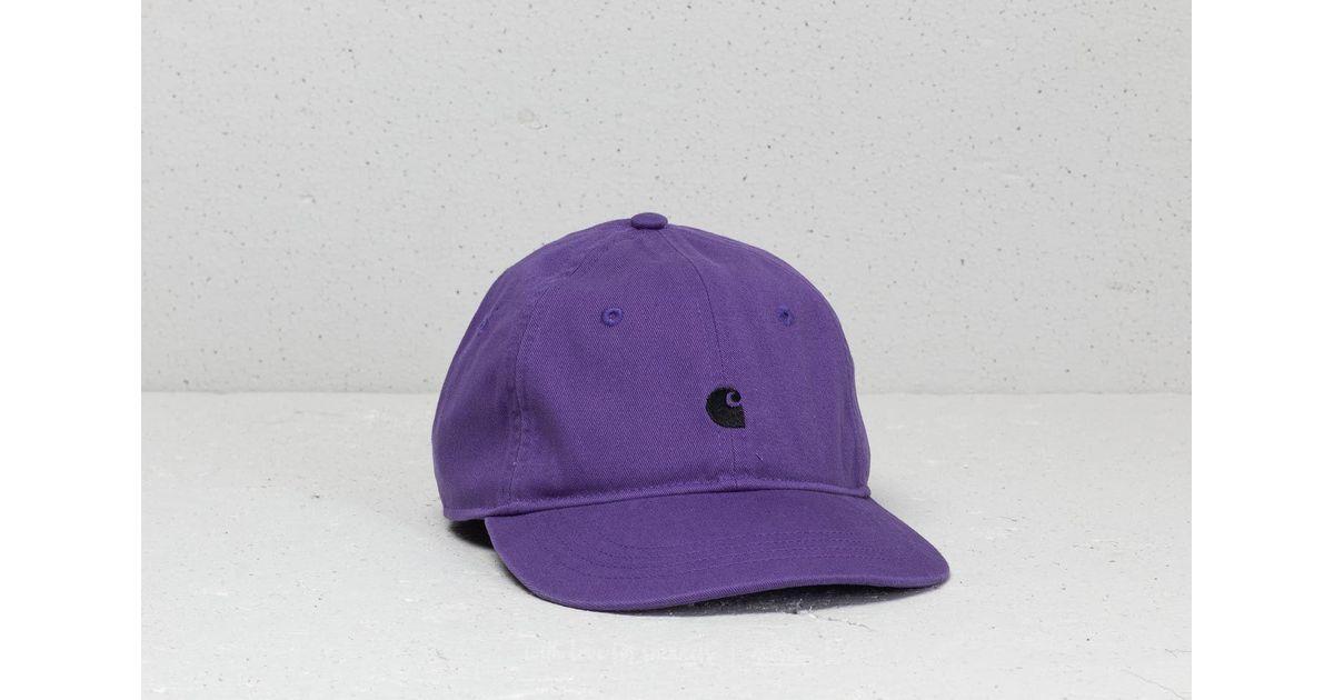 55cef1892af Lyst - Carhartt WIP Madison Logo Cap (6 Minimum) Frosted Viola   Black in  Purple for Men