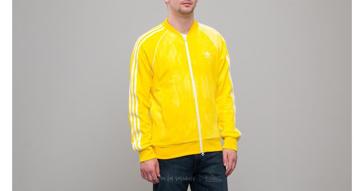 675432801a65b Adidas Originals Adidas X Pharrell Williams Hu Holi Superstar Track Top  Yellow for men