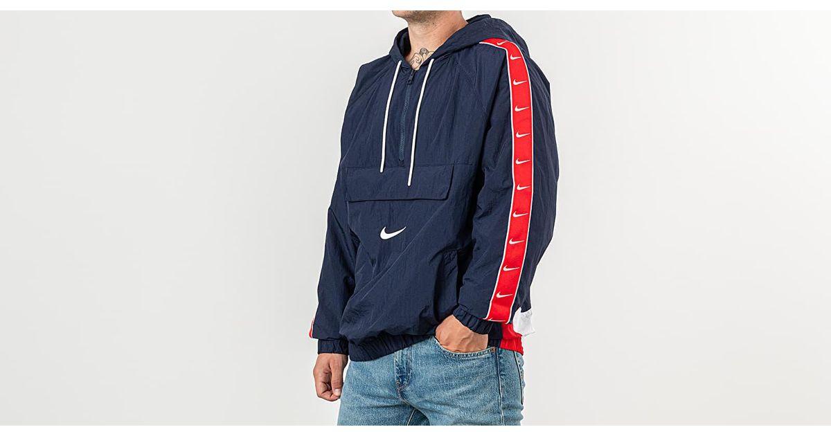 nike swoosh hoodie woven jacket