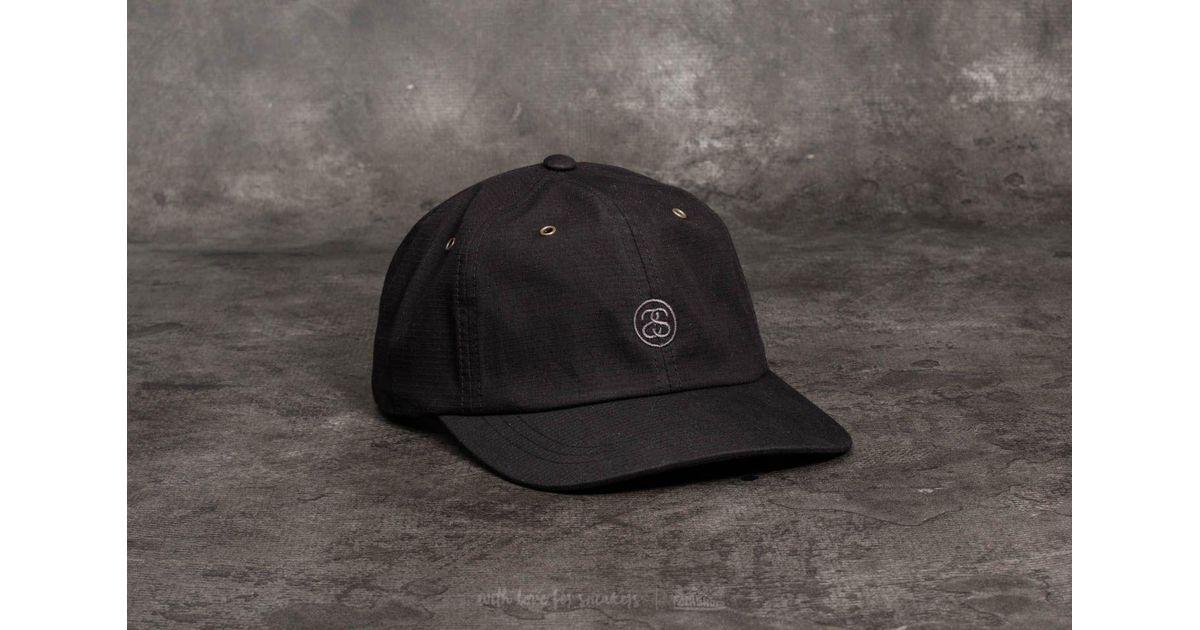 affa7268ff6cf5 Stussy Ss-link Ripstop Low Pro Cap Black in Black for Men - Lyst