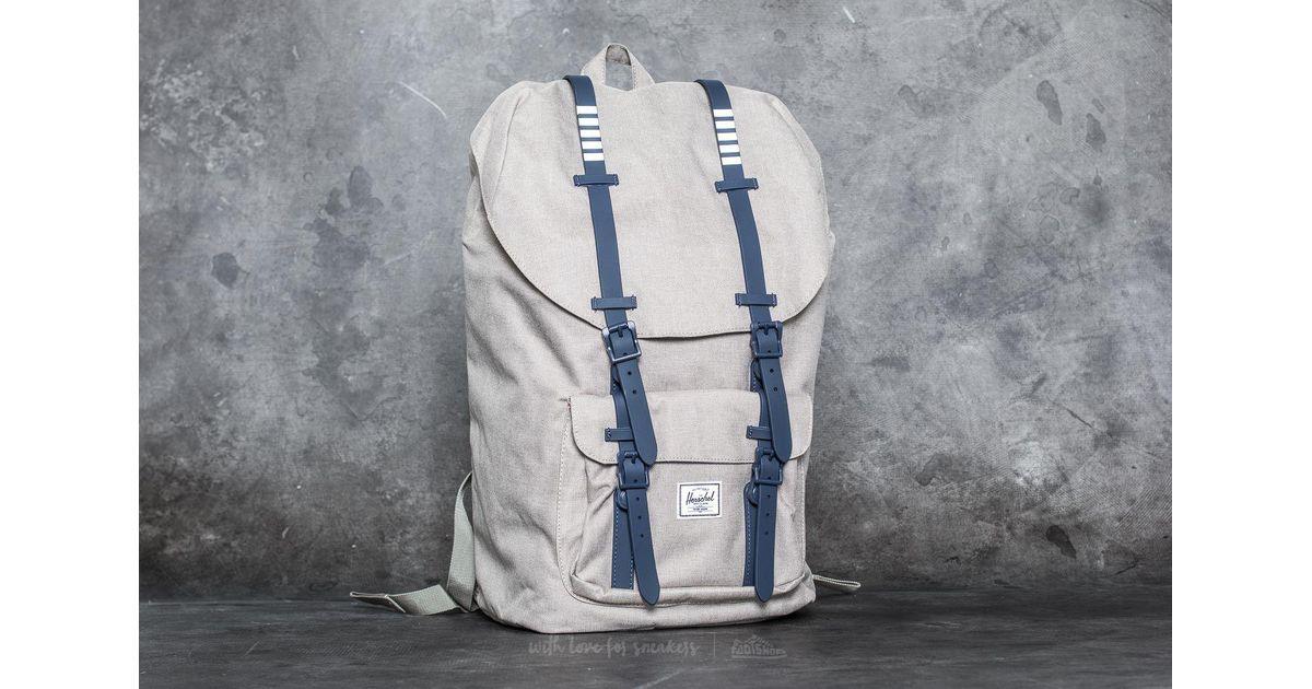 347a7484fb5 Lyst - Herschel Supply Co. Little America Backpack Light Khaki Crosshatch   Peacoat Rubber  White Insert for Men