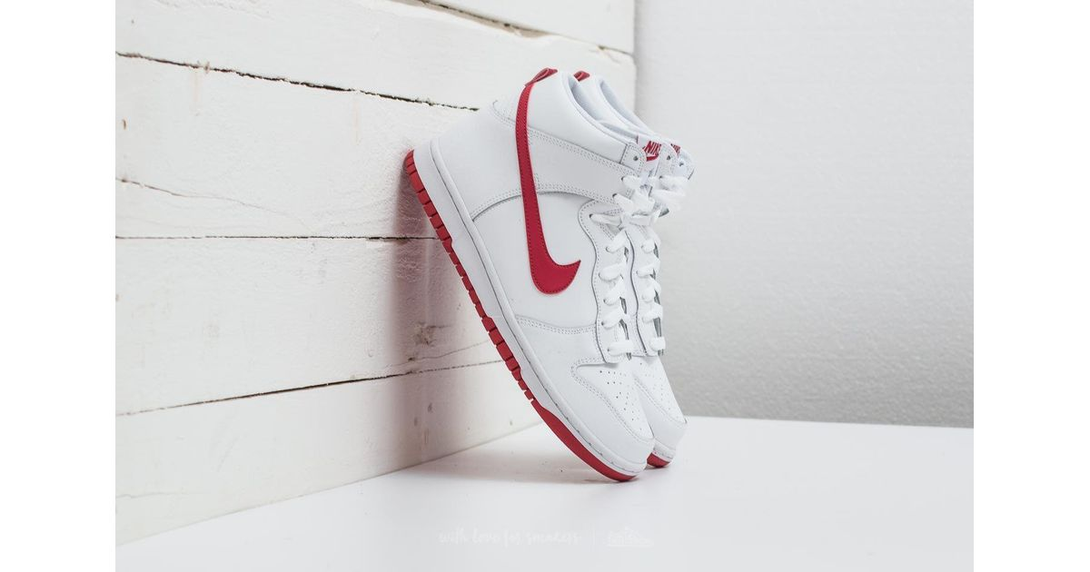 nike dunk high white gym red