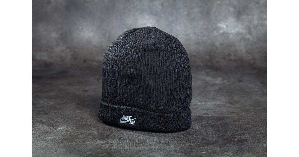best sneakers 970b7 b0400 Lyst - Nike Sb Fisherman Beanie Black  White in Black for Men
